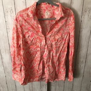 Brightly colored long sleeve button down size M